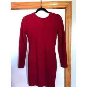 Red open back dress from Windsor